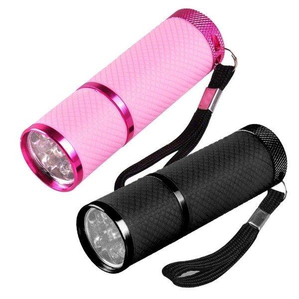 UV 램프 미니 랜턴 9구 LED 손전등 램프 네일 건조기
