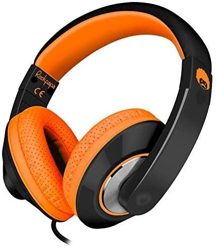 [해외]Rockpapa 편안한+ 조절가능 오버이어 헤드폰,헤드셋 이어폰 마이크,마이크로