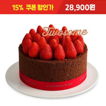 [15% 쿠폰할인가 : 28,900원] 스트로베리 초콜릿 생크림 케이크