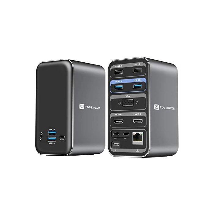 [해외]맥북 프로 16인치 2020 USB 허브 C타입 아답터 F17 도킹스테이션 Tobenone USB C Docki