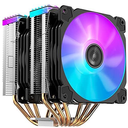 [해외]Jonsbo CR2000GT RGB CPU 에어 쿨러, 6 Heat-Pipes, 134mm RGB CPU 팬, 92mm PWM 팬, 알루미늄