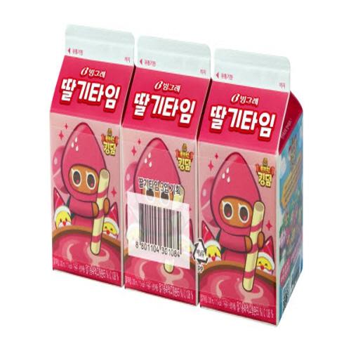 빙그레 딸기타임 (200ML*3입)