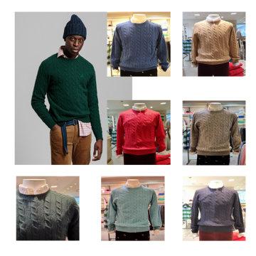 케이블패턴 램스울 스웨터 DG72020054