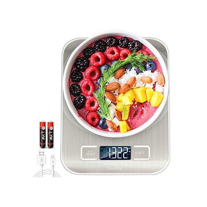 [해외]디지털 식품 저울 ? 11lb / 5kg 주방 저울 디지털 무게, 1g / 0.04oz 정밀 졸업식