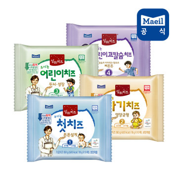상하목장 유기농 아기치즈 1~4단계 80매