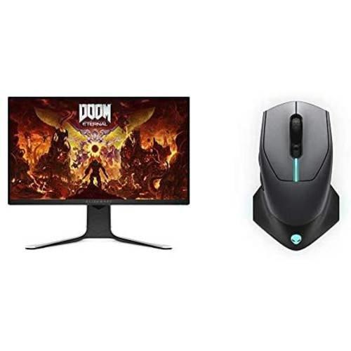 [해외]Alienware New AW2720HF 27 Inch FHD IPS LED Edgelight 2019 Monitor & Wired/Wireless Gaming Mouse AW61