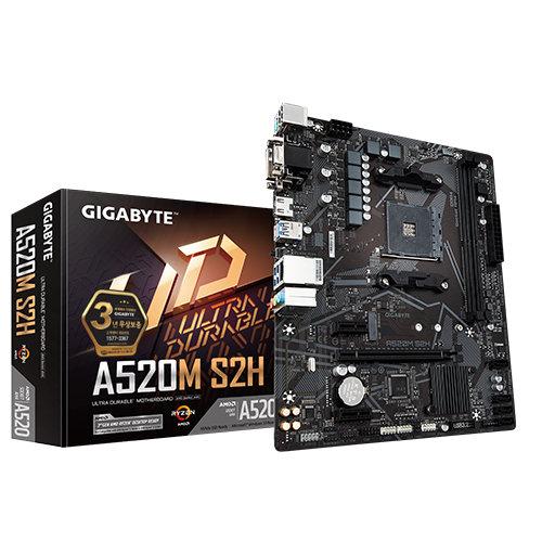 기가바이트 [제이씨현] GIGABYTE A520M S2H 메인보드 (AMD 칩셋)