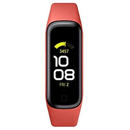 [해외]SAMSUNG Galaxy Fit 2 Bluetooth Fitness Tracking Smart Band Scarlet (US Version):Red/~/15007189