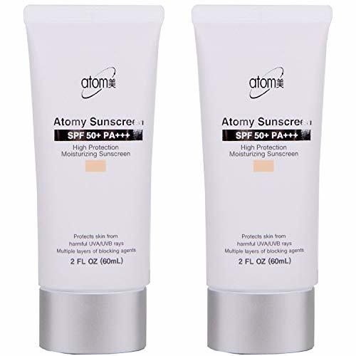 [해외]Atomy Sunscreen SPF 50 + Pa +++ Herb Skin Care Uv Sun Protection Beige 2 Pcs 1 Set