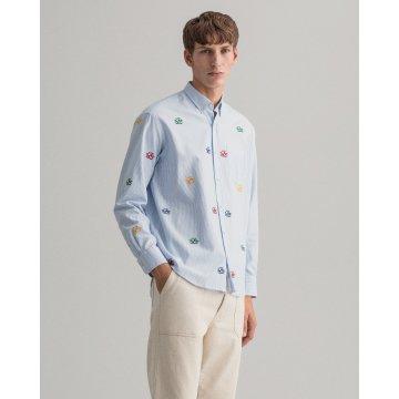 간트[GANT] 엠브로이더리 옥스포드 셔츠 DG72110110SBNW