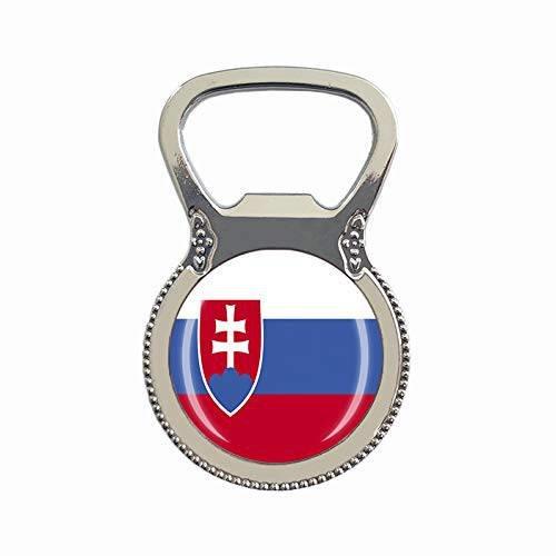 [해외]Slovakia Flag Beer Bottle Opener Fridge Refrigerator Magnet Metal Glass Crystal Travel Sou/14752048