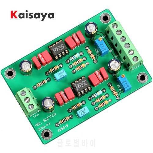 [해외]MBL6010D Pre-amplifier 보드 NE5534*2 Op Two-channel 버퍼 보드 DC 15V T1485 MBL6010D Pre-amplif