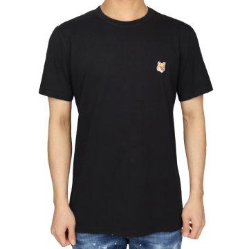 21SS 메종키츠네 폭스헤드 패치 티셔츠 (남성/블랙) AM00103KJ0008 BK